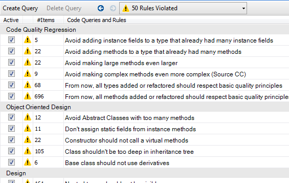 Churning Rules and Queries